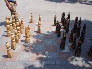 Jeu d'échecs, Lugano, Suisse